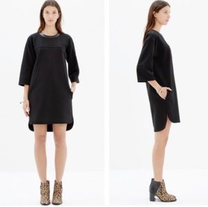 Madewell Pique Leather Shift Dress